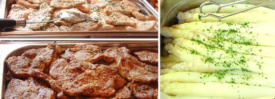 Spargel und Steaks